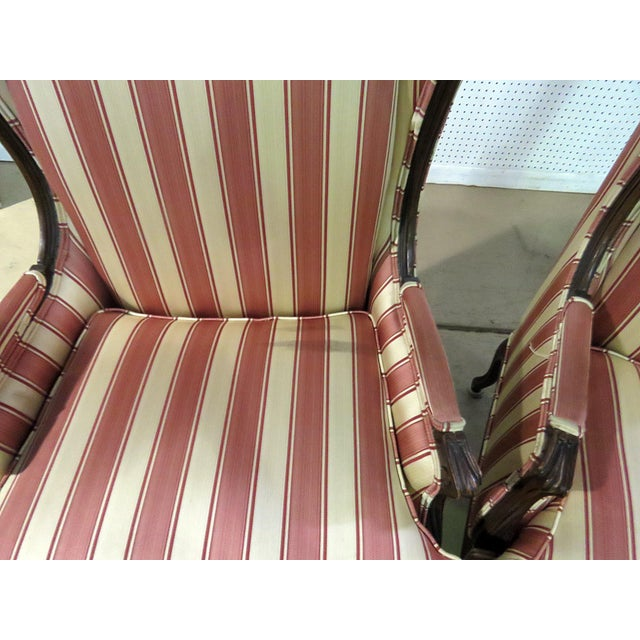 Louis XV Style Wingback Chairs - a Pair For Sale - Image 4 of 13