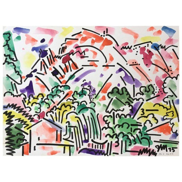 Paint Framed Landscape Watercolor by James McCray #8 For Sale - Image 7 of 7