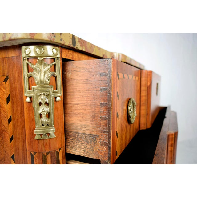Traditional 19th Century French Louis XVI-style Inlaid Chest of Drawers - Image 8 of 11