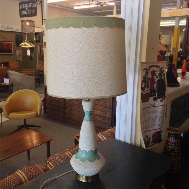 Mid Century Modern Lamp & Original Shade - Image 2 of 9