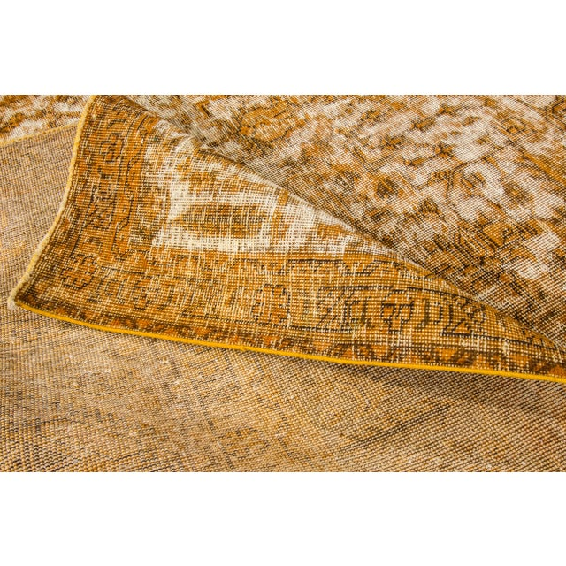 "Apadana Yellow Overdyed Rug - 10' X 12'7"" - Image 3 of 5"