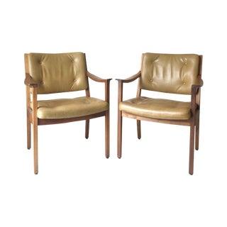 Vintage Danish Modern Gunlocke Walnut Chair - Pair For Sale