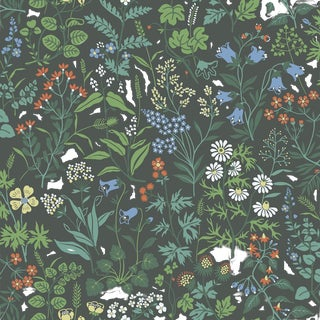 Flora Wallpaper by Borastapeter Wallpaper - This Is a Sample For Sale