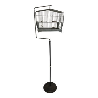 Vintage Mid Century Bird Cage With Stand - Made by Hendryx For Sale