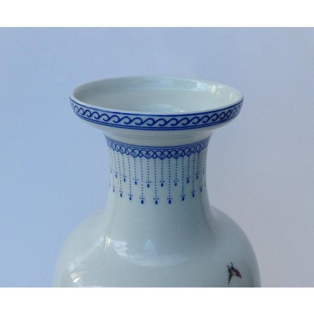 Ceramic Vintage Japanese Porcelain Kutani Ceremonial Greek Key Vessel, Vase For Sale - Image 7 of 11