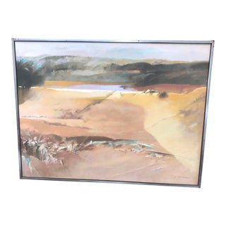 Vintage Oil on Canvas Abstract by Paul Zimmerman For Sale