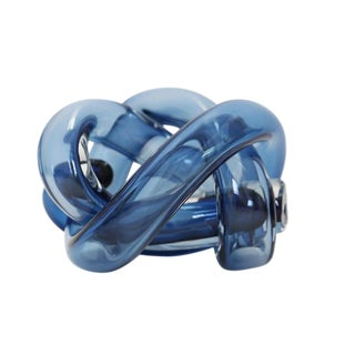 SkLO Wrap Object Glass Knot - Steel Blue For Sale