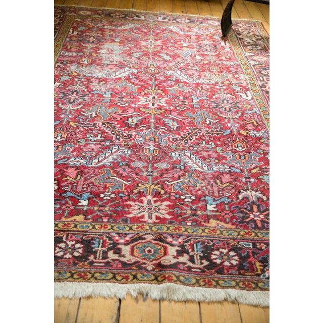 """Vintage Heriz Carpet- 7'6"""" X 10' For Sale - Image 9 of 12"""