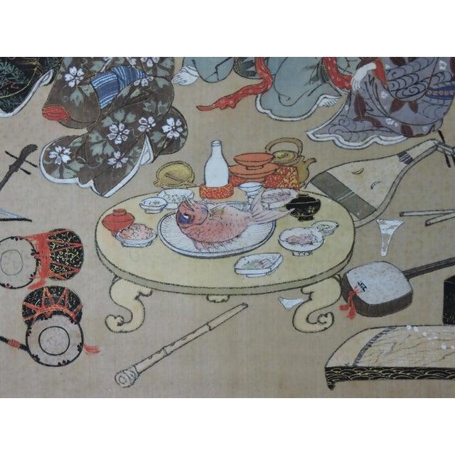 Late 19th Century Antique 19th C. Japanese Scroll Painting - Edo Period Kakejiku For Sale - Image 5 of 8