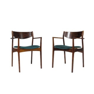 p.e. Jorgensen Rosewood Dining Armchairs - a Pair For Sale
