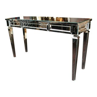 Custom Mirrored Console Table For Sale