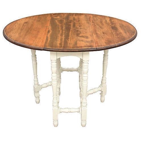 Queen Anne-Style Gateleg Table - Image 1 of 7
