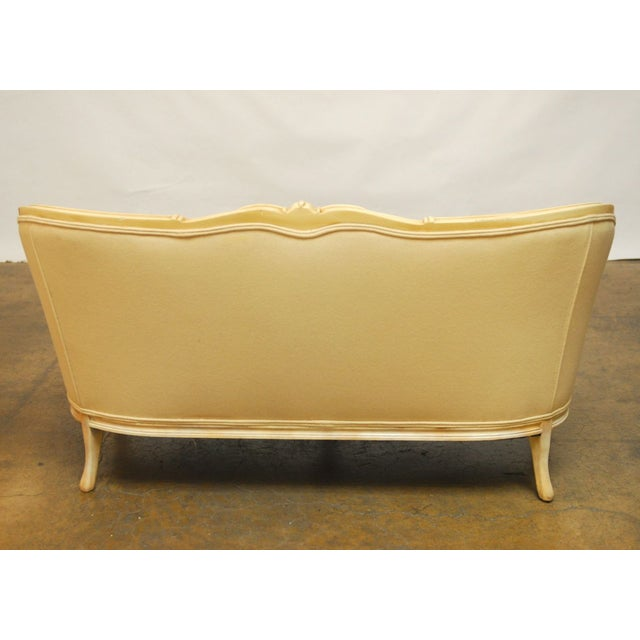 French Louis XV Style Loveseat Settee - Image 5 of 7