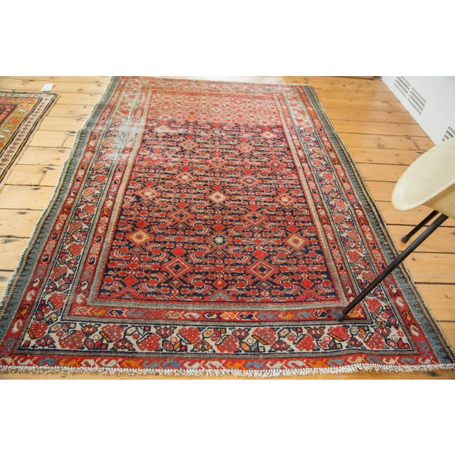 "Distressed Antique Malayer Rug - 4'1"" X 6' - Image 6 of 8"