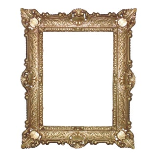 Vintage Italian Gold Rococo Style Picture Frame For Sale