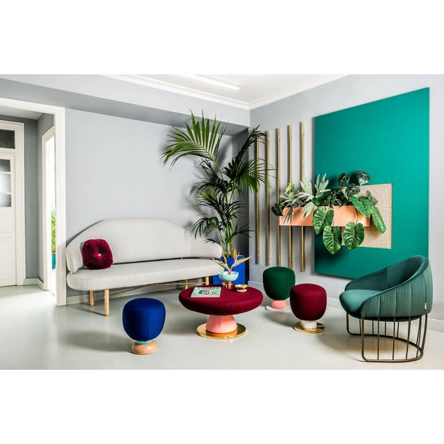 Toadstool Collection Ensemble Sofa, Table and Puffs, Masquespacio For Sale - Image 11 of 13