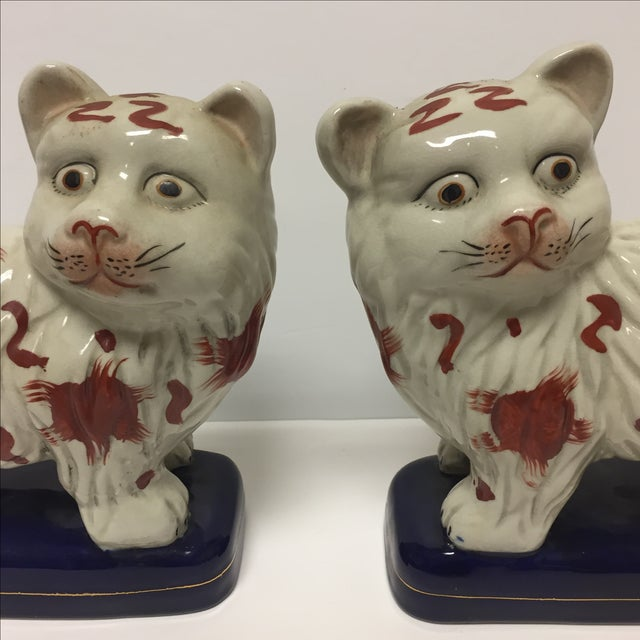 Staffordshire Cats - Pair - Image 3 of 6
