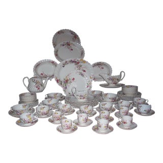 """Vintage Spode China """"Fairy Dell"""" Service for 8 (91 Pieces)"""