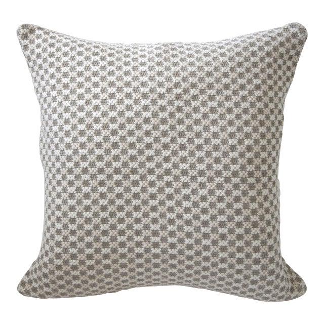 Tweed Bobble Heavy Woven Pillow Cover For Sale