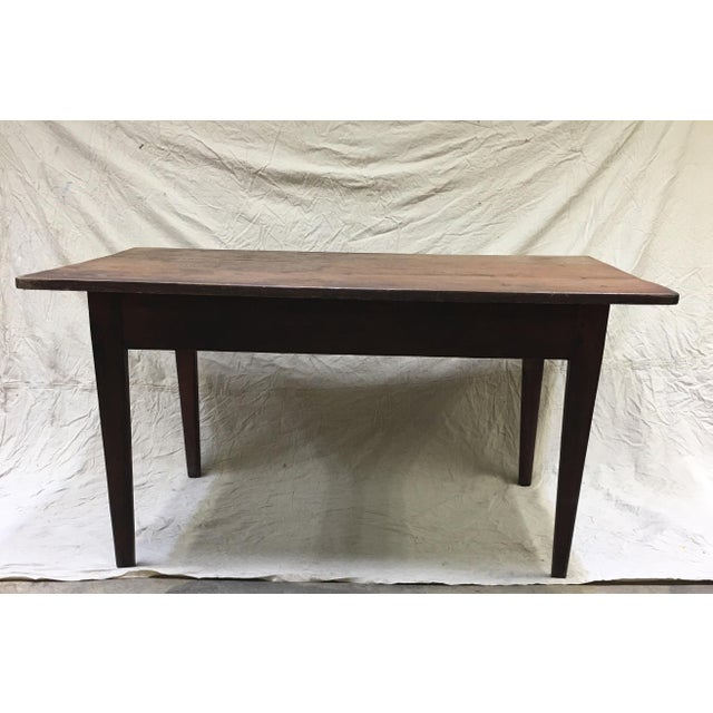 Vintage Rustic Hand Made Farm Table For Sale - Image 11 of 11