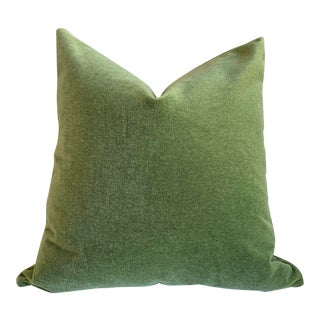Angora Mohair 16x16 Pillow Cover: Apple Green For Sale