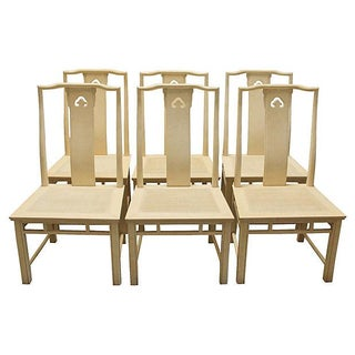 Chinoiserie Yoke Dining Chairs - Set of 6 For Sale