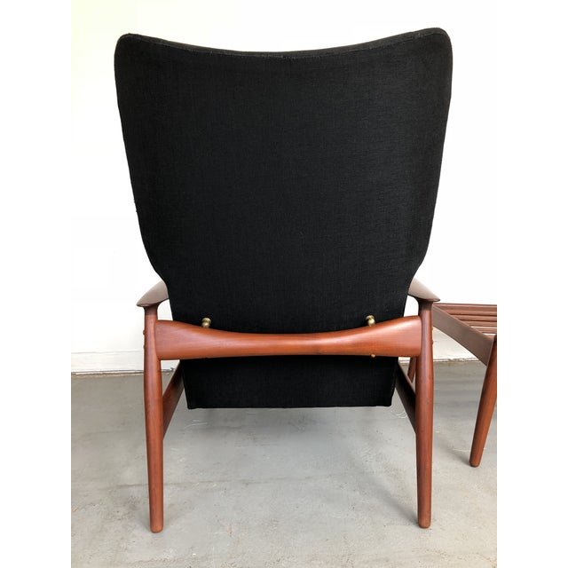 1960s Danish Modern Reclining Lounge Chair and Ottoman - 2 Pieces For Sale In Kansas City - Image 6 of 13