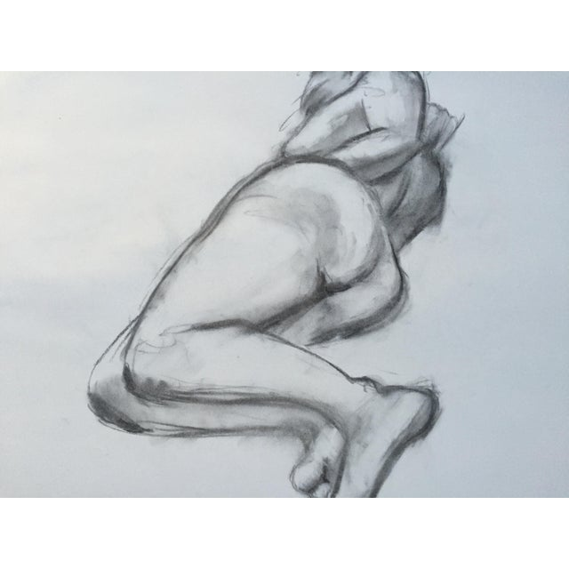 Charcoal Female Nude Line Drawing # 4 - Image 3 of 3