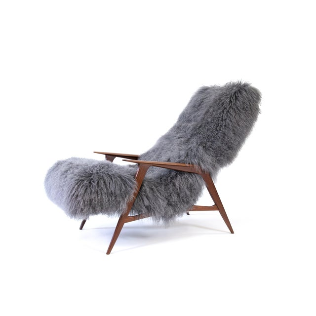 Jio Mobler Siesta Chair in Mongolian Sheepskin For Sale - Image 10 of 11