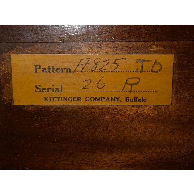 Kittinger 20th Century Traditional Kittinger Gainsborough Flame Mahogany Secretary Desk For Sale - Image 4 of 9