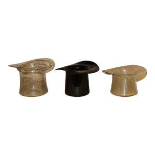 Don Shepherd for Blenko Glass Top Hat Ice/Wine Buckets - Set of 3