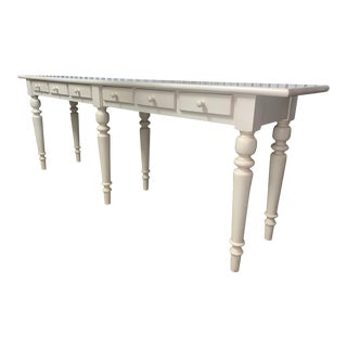 Tivoli Console Table Pottery Barn Ivory For Sale