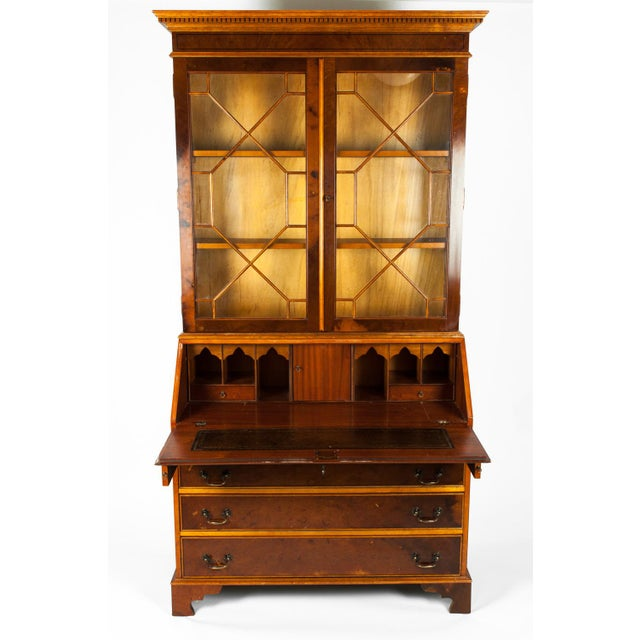 Mahogany Antique Mahogany Desk Front Hutch or Cabinet For Sale - Image 7 of 13