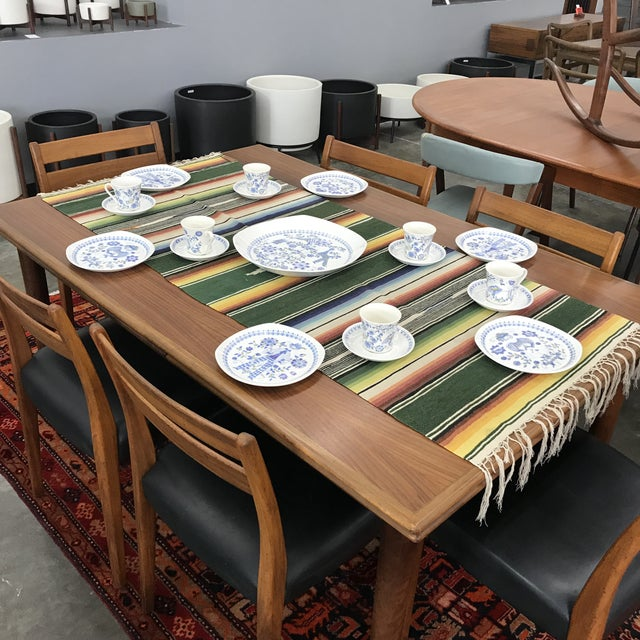 19 piece set of dishes by Figgjo Flint of Norway. This playful vintage set has a great paisley style pattern. The set...