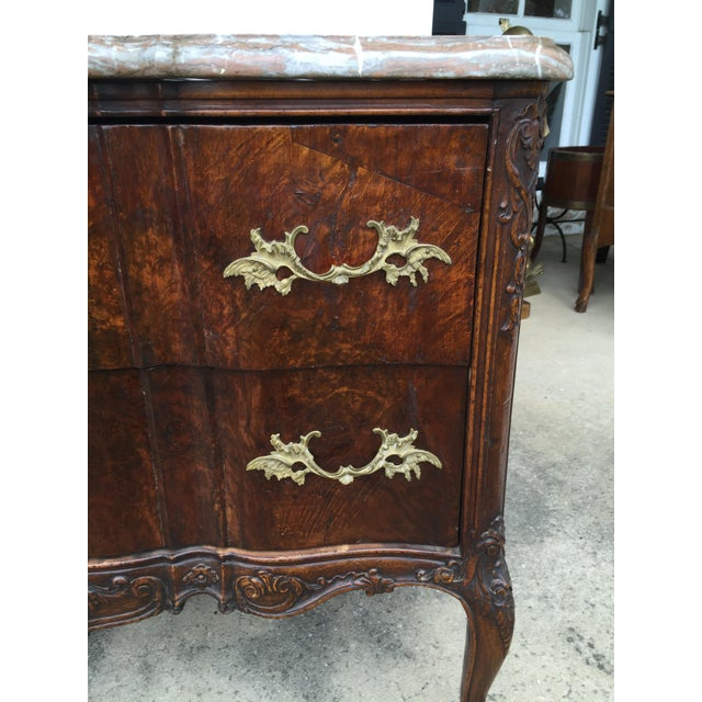18th C. Continental Burl Walnut Commode - Image 3 of 6