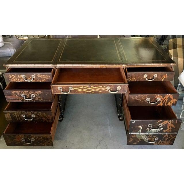 Henredon Henredon Folio 10 Asian Style Desk For Sale - Image 4 of 10