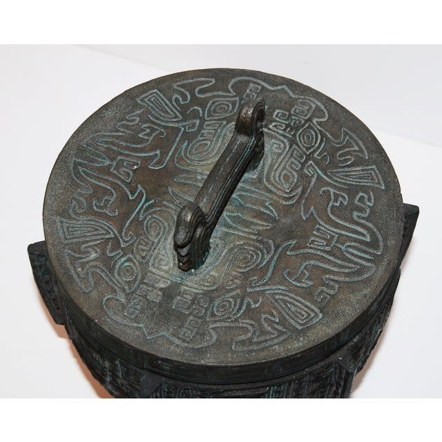 James Mont James Mont-Attributed Mayan Ice Bucket For Sale - Image 4 of 7