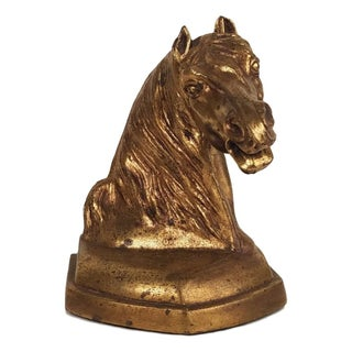 Brass Horse Head Bookends - a Pair Preview