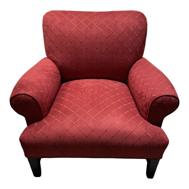 Steve Chase Associates Red Upholstered Chair For Sale