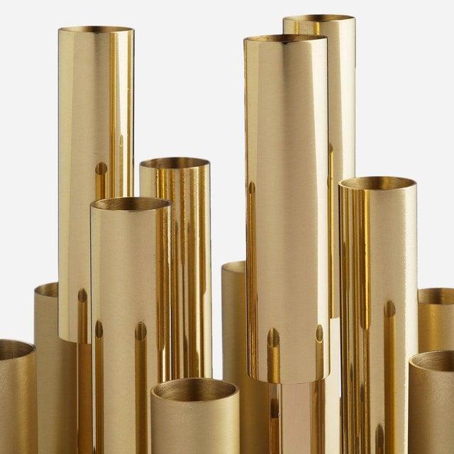 Metal Borgia Brass Chandelier, Carla Baz For Sale - Image 7 of 8