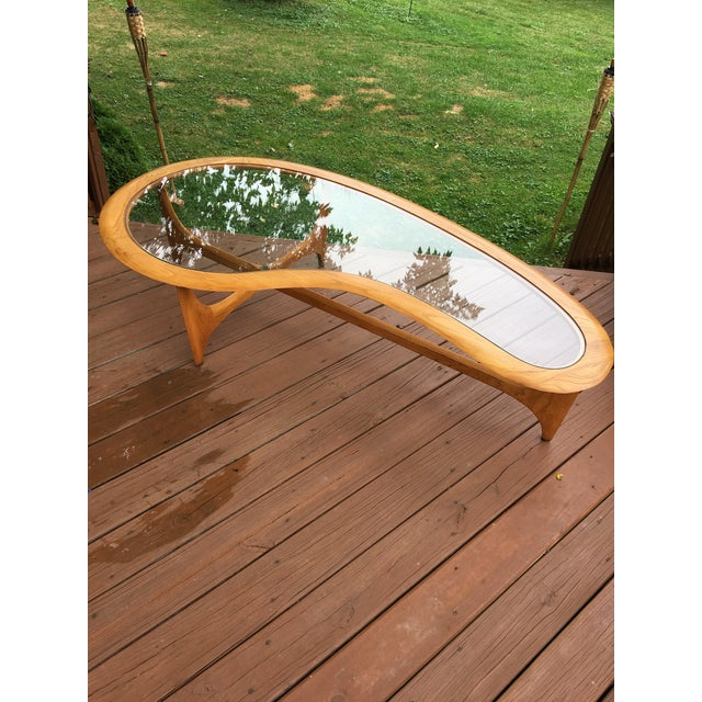 Mid Century Vintage Lane Kidney Shaped Coffee Table For Sale In Cleveland - Image 6 of 13