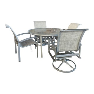 Tropitone Patio Table and 4 Chairs For Sale