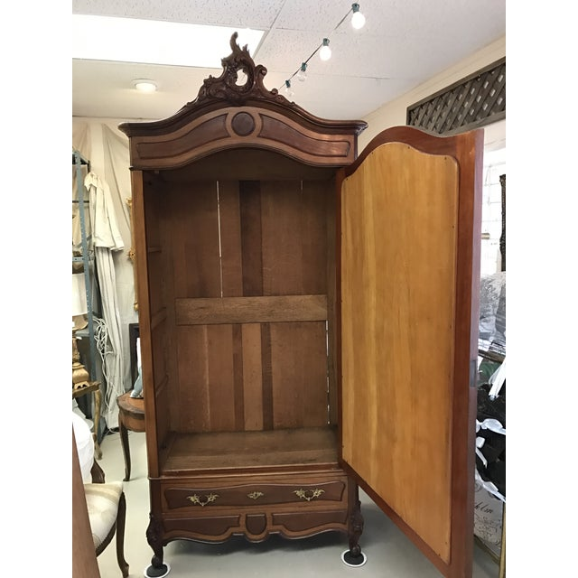 Antique French Wood Armoire - Image 4 of 8