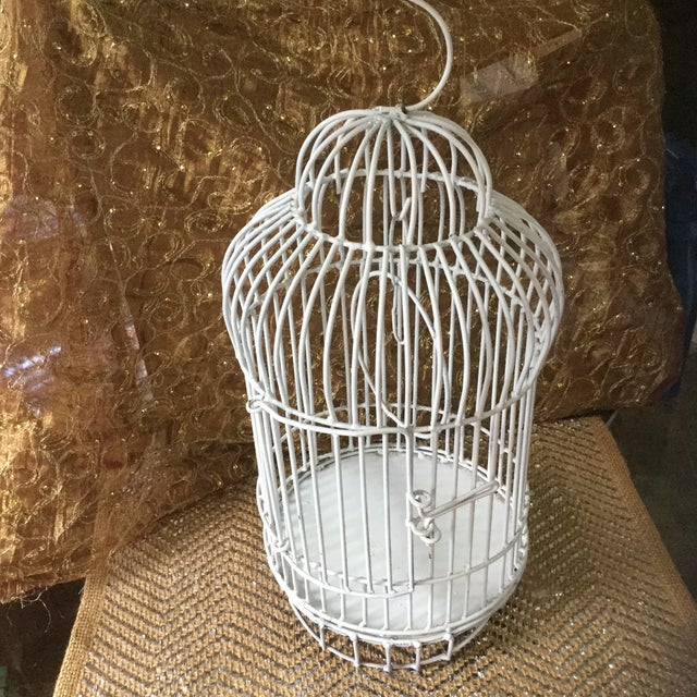 White Mid-Century White Bird Cage For Sale - Image 8 of 8