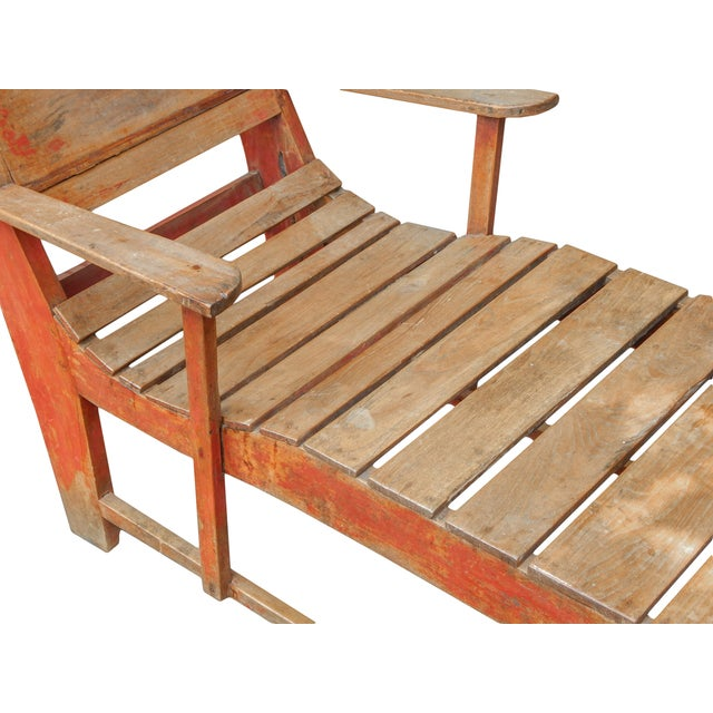 Late 19th C. Primitive Painted Chaise For Sale - Image 10 of 11