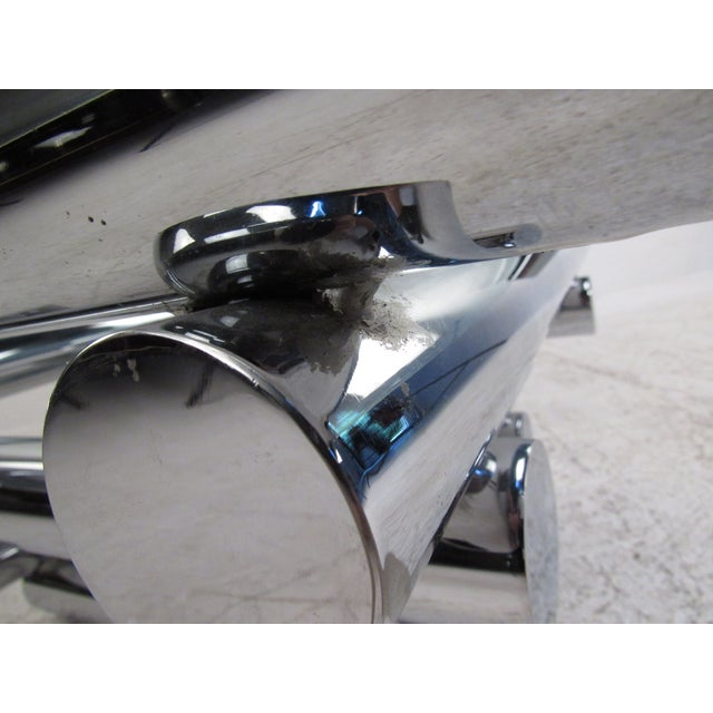 Vintage Modern Chrome Coffee Table in the Style of Paul Mayen For Sale In New York - Image 6 of 10