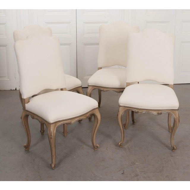 French Louis XV Style Reproduction Dining / Side Chairs - Set of 4 For Sale - Image 4 of 13