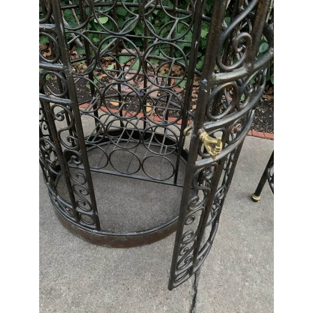Maitland-Smith Copper Domed and Iron Wine Rack For Sale - Image 10 of 12
