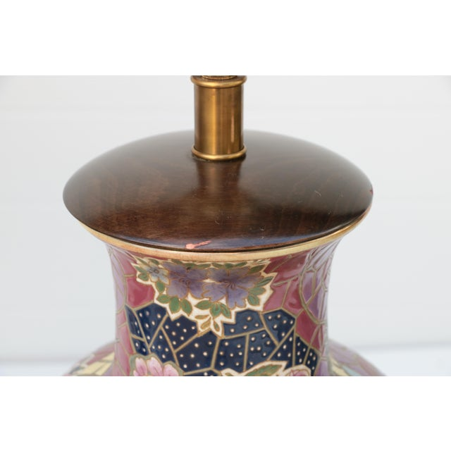 Metal Frederick Cooper Mosaic Chinoiserie Table Lamps - a Pair For Sale - Image 7 of 8