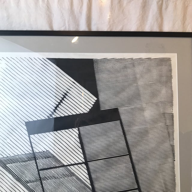 1980s 1980 Geometric Modern Lithograph For Sale - Image 5 of 7